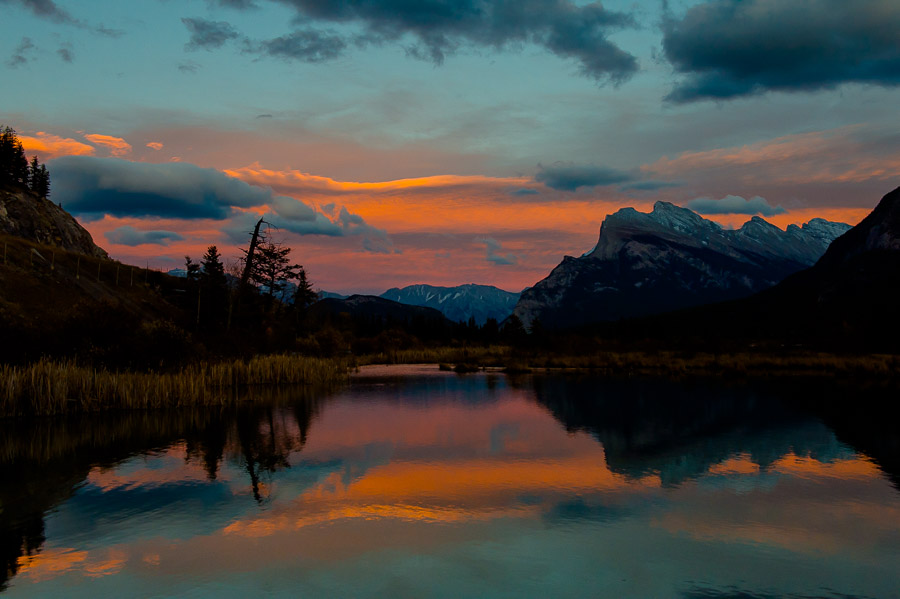 sunset_vermilion_lakes_banff_mount_rundle_2